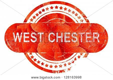 west chester, vintage old stamp with rough lines and edges