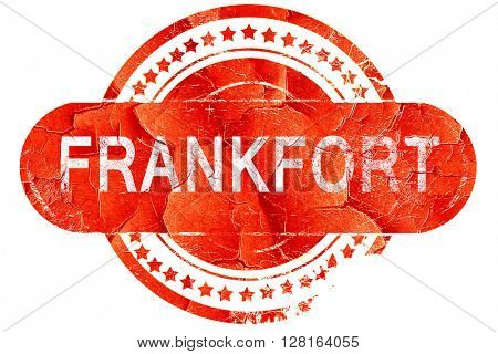 frankfort, vintage old stamp with rough lines and edges