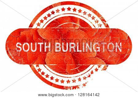 south burlington, vintage old stamp with rough lines and edges