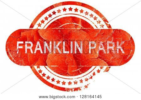 franklin park, vintage old stamp with rough lines and edges