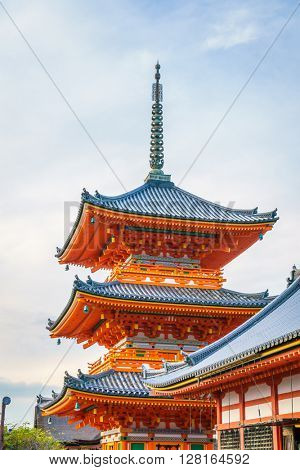 Beautiful Architecture in Kiyomizu-dera Temple Kyoto, Japan