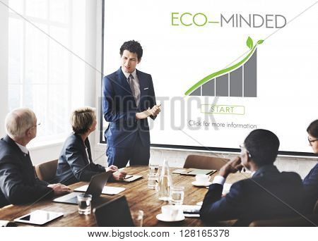 Eco-minded Business Seminar Office Concept