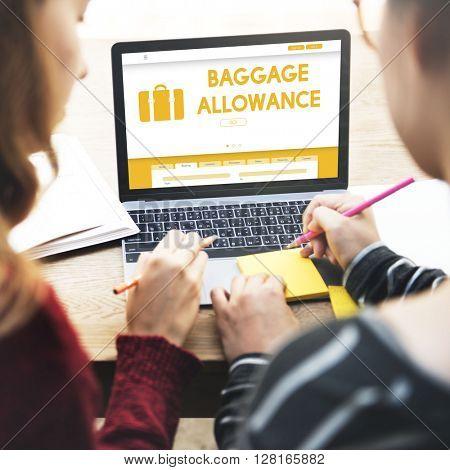 Baggage Luggage Allowance Passenger Plane Concept