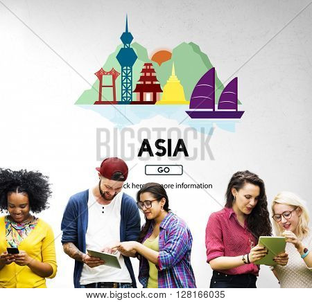 Asia Country Traveling Exploration City Concept