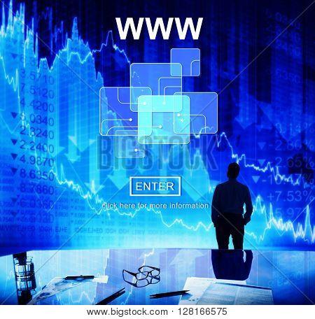 WWW Website Online Internet Web Page Concept