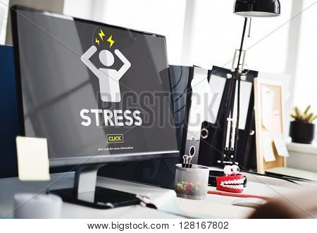 Stress Failure Depression Pressure Panic Concept