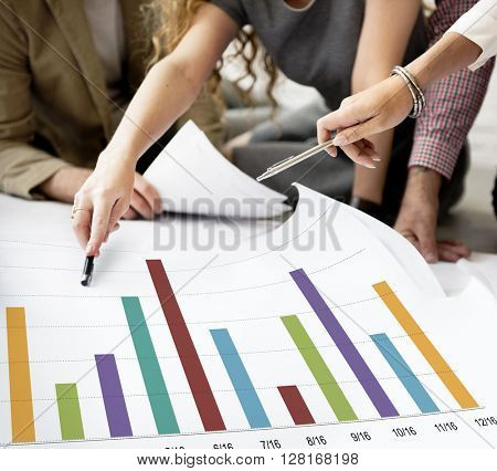 Analysis Analytics Bar graph Data Information Concept