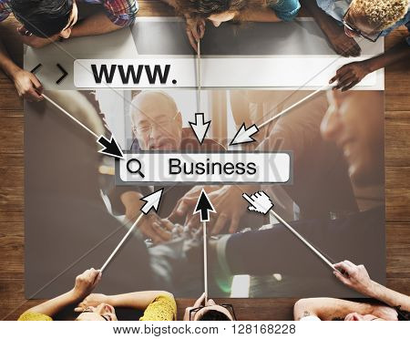 WWW Online Homepage Business Word Search Concept