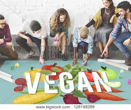 Vegan Healthy Eating Food Vegetable Vegetarian Concept