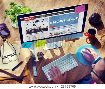 Knowledge Education News Feed Advertise Concept