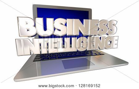 Business Intelligence Industry Analysis Reporting Computer Laptop Words