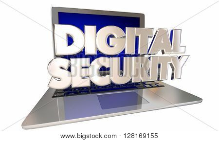 Digital Security Safeguard Private Personal Information Online Laptop Computer