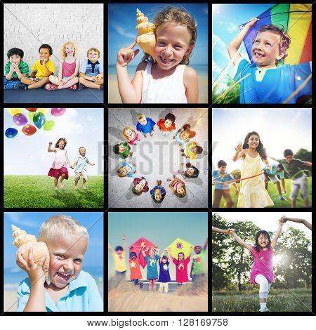 Adolescence Childhood Diversity Ethnicity Friends Concept