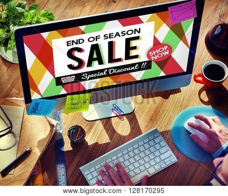 Sale Cheap Commerce Discount Promotion Selling Concept