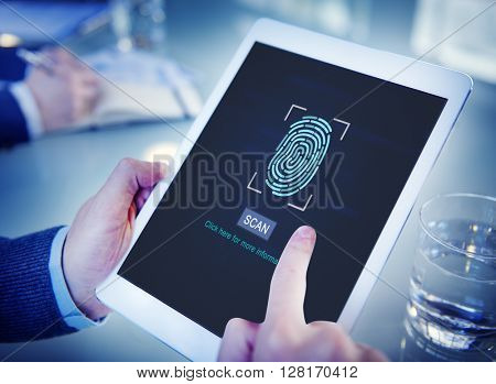 Fingerprint Scan Biometrics Identify Authorization Concept