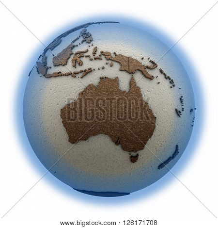 Australia On Light Earth