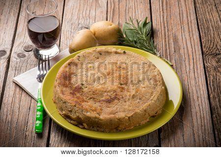 Homemade potato cake