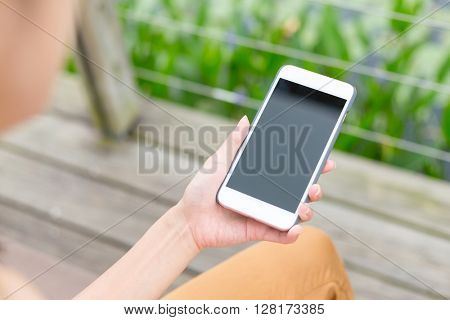Woman hold with phone
