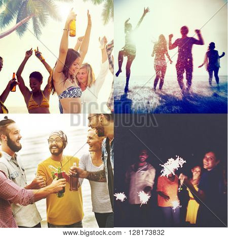 Beach Fun Summer Friends Together Concept