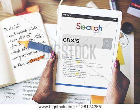 Crisis Problem Liability Financial Crisis Concept