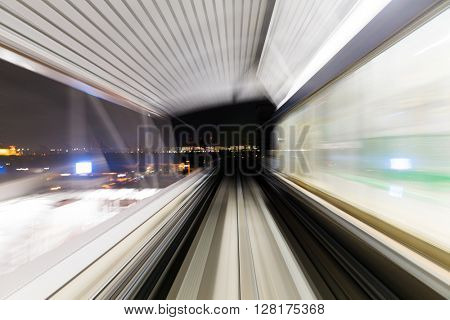 Motion in tunnel