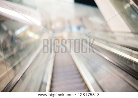 Blur escalator in shopping mall