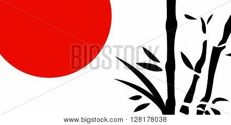 Traditional Japanese painting art on white background