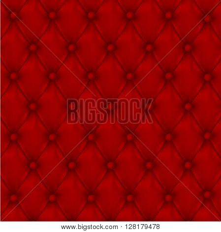 Leather background. Vector illustration of leather background. Vector red leather texture.