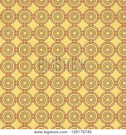 Texture of the old soiled paper with geometric ornamental pattern