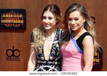 Madison Marlow and Taylor Dye aka Maddie and Tae at the 2016 American Country Countdown Awards held at the Forum in Inglewood, USA on May 1, 2016.