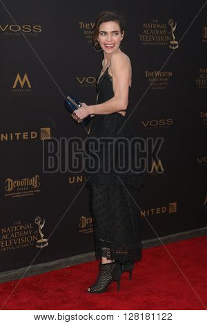 LOS ANGELES - APR 29:  Amelia Heinle at the 43rd Daytime Emmy Creative Awards at the Westin Bonaventure Hotel  on April 29, 2016 in Los Angeles, CA
