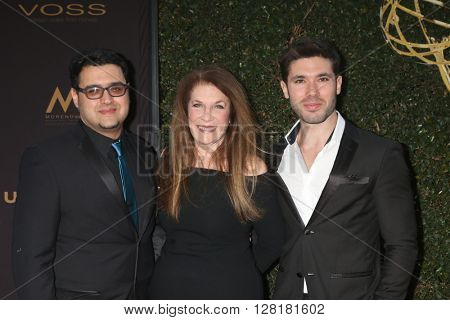 LOS ANGELES - APR 29:  Gregori J. Martin, Wendy Riche, Kristos Andrews at the 43rd Daytime Emmy Creative Awards at the Westin Bonaventure Hotel  on April 29, 2016 in Los Angeles, CA
