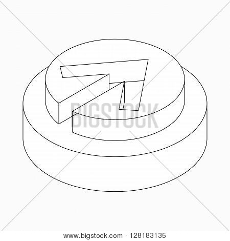 Exclusion classic arrow icon in isometric 3d style isolated on white background