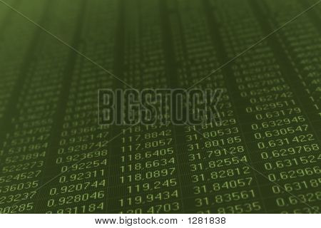 Numbers On A Computer Monitor