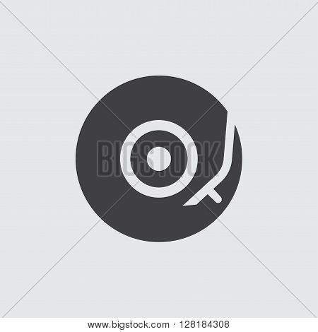 Vinyl turntable icon illustration isolated vector sign symbol