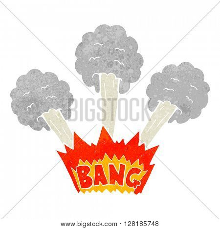 freehand retro cartoon explosion