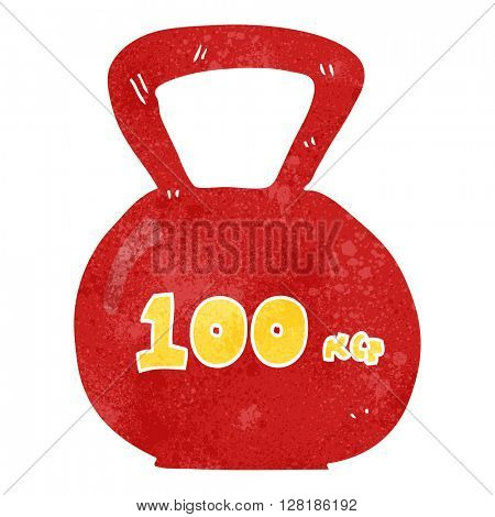 freehand retro cartoon 10kg kettle bell weight