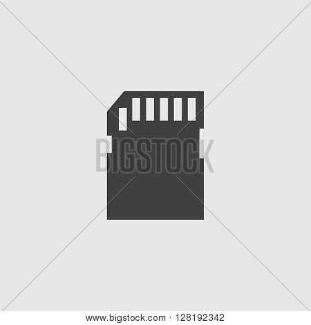 SD card icon illustration isolated vector sign symbol