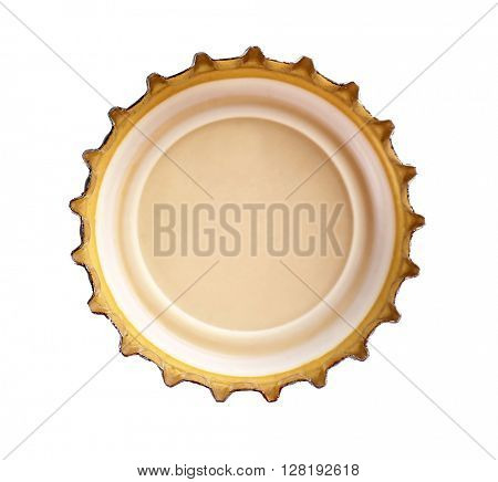 Beer bottle cap, isolated on white