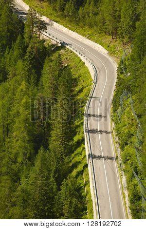 Nice road in the Italian Dolomites