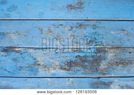 Old Rusty Blue Table Surface
