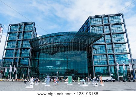 BERLIN, GERMANY - AUGUST 08, 2015: Berlin's main train station, Germany