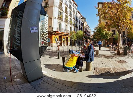 MADRID, SPAIN - NOVEMBER 11, 2015 : Postman Spanish mail