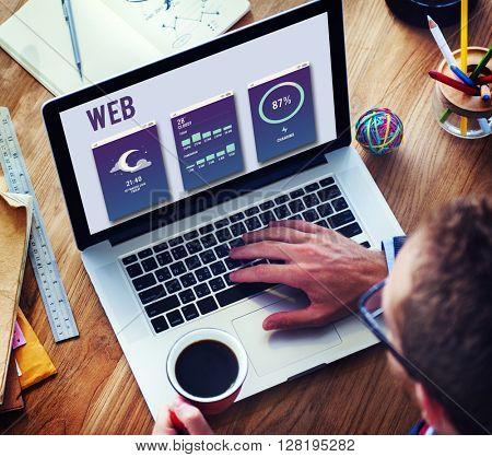 Web Internet Mobile Interface Layout Concept