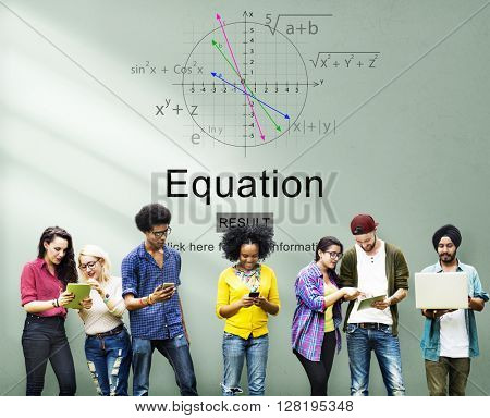 Equation Formula Geometry Calculation Concept