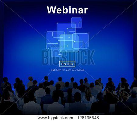 Webinar Online Internet Website Web Page Concept