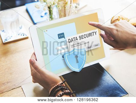Data Security Digital Internet Phishing Online Concept