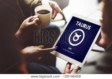 Taurus Zodiac Horoscope Sign Galaxy Concept