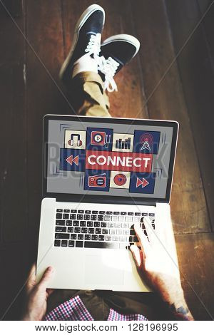 Connect Music Digital Audio Technology Concept
