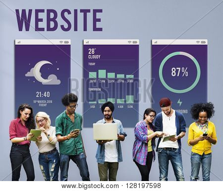 Web Site Mobile Interface Layout Concept